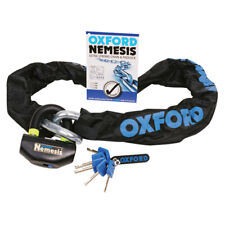 OXFORD NEMESIS 16MM ULTRA STRONG CHAIN & PADLOCK  1.2M LONG OF330 RIDE BEST BUY