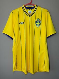 Sweden 2012-2013 Home Football Shirt Umbro Soccer Jersey Sverige size M