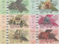 Elobey Chico Set of 6 banknotes 2016 - Spiders UNC (private issue)