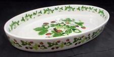 "Portmeirion SUMMER STRAWBERRIES 14"" Oval Baker GREAT CONDITION"