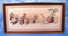 PENCiL SiGNED BORiS O'KLEiN ViNTAGE PRiNT W.C. PRiVE' DiRTY DOGS OF PARiS SERiES