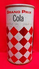 Vintage GRAND PRIX Soda Pop Cola Can Tin 10oz Canada Steel