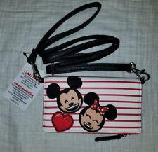 New Disney Parks Boutique Mickey Minnie Mouse Emoji Crossbody Wallet Valentine
