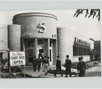BOY SCOUTS CUB Enter MR STEVENS CANDY SHOP in UNIFORM 1950s Press Photo