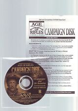 AGE OF RIFLES 1846-1905 CAMPAIGN DISK - PC GAME ADD-ON EXPANSION - FAST POST