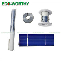 20pcs 78x26mm Solar Cells Battery Charger Panel w/Tab Bus Wire, Flux Pen for DIY