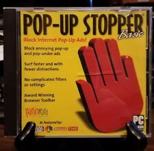 Pre-owned ~ Panicware Pop-Up Stopper Basic (CD-ROM, 2001) Block Internet Pop-Up