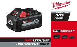 Milwaukee 48-11-1865 M18 REDLITHIUM High Output XC6.0 Battery Pack SHIPS NOW!
