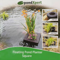 PondXpert Floating Pond Planter Square Plant Island Basket Aquatic Lily 35 x 35c