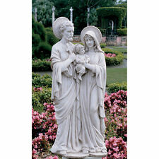 Holy Family Mother Mary Joseph Baby Jesus 21.5 H Statue Garden Sculpture