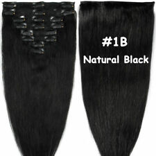 Clip In Thick Remy Human Hair Extensions Double Weft DIY Full Head Highlight UK