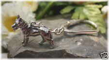 Schäferhund Silber 925, Schlüsselanhänger Hund Sterlingsilber 23g. massiv 3D