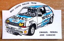 Renault 5 Turbo Bingo Luces Rallye equipo Motorsport ETIQUETA / ETIQUETA