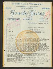 """BORDEAUX (33) USINE de CHAUSSURES PANTOUFLES SANDALETTES """"JOURDE Freres"""" en 1932"""