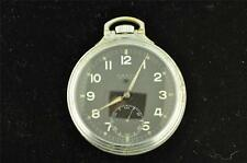 VINTAGE 16 SIZE SWISS CHASE WATCH CORP POCKET WATCH CHOO CHOO CASE MILITARY DIAL