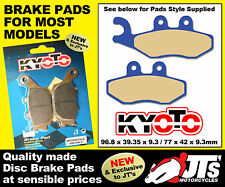 FRONT DISC BRAKE PADS TO SUIT VESPA GTS 250 ie / ABS (05-11) PATTERN