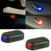Fake Solar Car Alarm Red Led Light Security System Warn Theft Flash Blinking New