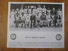 1973 1974 Boston Celtics team PRESS PHOTO John Havlicek Dave Cowens Paul Silas