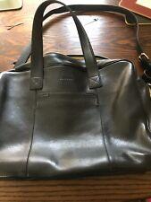 Cole Haan  Soft Leather Bag Briefcase  Laptop Black Handle And Shoulder Strap