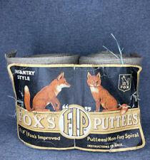 Pair of Original WW1 Fox Puttees - New, Old Stock, Unused.