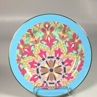 Anthropologie abstract Salad Plate, fleur de lis medallion dessert plate