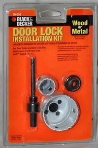 Black & Decker Door Lock Installation Kit 79-358 Wood or Metal Factory Sealed