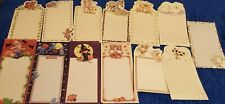 65 Assorted Ruth Morehead Stationery/Note Sheets with Animals & Holiday Designs