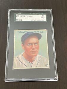 1933 Goudey Wesley Ferrell #218 Cleveland Indians SGC 50 VG/EX 4