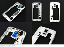 Samsung Galaxy S5 SM-G900F Cadre Moyen Boîtier CADRE ARGENT - Blanc