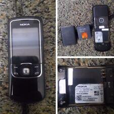 Nokia 8600 Luna Black Unlocked Cellular Phone Original GSM Luxury Mobile Phone