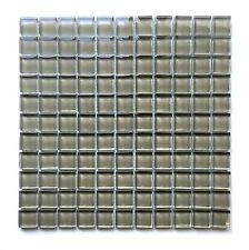 "1""X1"" Sierra Glass Mosaic Tile Shiny Glossy Finish Thick Shower Wall Spa Bath"