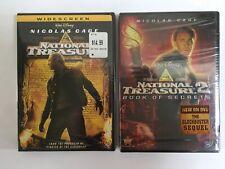 National Treasure & National Treasure 2 Book of Secrets Disney DVD LOT NEW