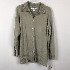 Vittadini Tunic Cardigan Women's  XL Taupe Kasha Sweater Shirt NWT B82838B $99