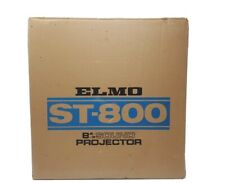 Elmo St-800 8mm Sound Projector with Box and Accessories Serviced with New Belts