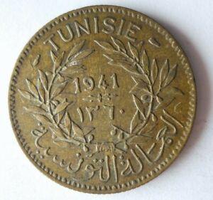 1941 TUNISIA 2 FRANCS - AU - HIGH GRADE Coin - Lot #A4