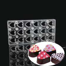 Heart Magnetic Polycarbonate Chocolate Transfer Sheet Molds DIY Candy Mould