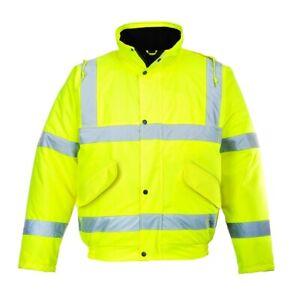 Portwest S463 Hi Vis Bomber Jacket Weatherproof Work Protection Water Resistant