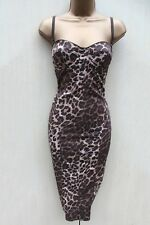 Karen Millen Animal Print Bodycon Corset Cocktail Races Hourglass Dress 10-UK 36
