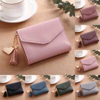 Soft Leather Tri-fold Purse Women Cards Holder Wallet Tassel PU Purse Wallet