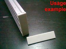 Aluminum T-slot profile End Cap plastic white-grey 20x80mm, 12-set