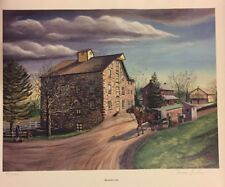 """The Roller Mill"" By Thomas Hess Lancaster Pa Print Picture Feed Amish Buggy"