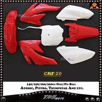CRF70  RED PLASTICS KIT DIRT BIKE 140/150/160/200CC FOR ATOMIK PITPRO THUMPSTAR
