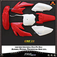 CRF70  RED PLASTICS KIT DIRT BIKE 140/150/160/200CC FOR ATOMIK PITPRO THUMPSTAR