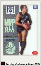 1994 Dynamic AFL Sensation Series MVP Acetate Card  CC4 Greg Williams Correction