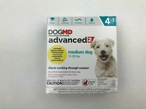 DogMD Maximum Defense Advanced 2 Flea Treatment for Dog 4 Pack M Dog 11-20lbs
