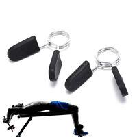 2X Morsetto a molla 25mm nero per pesi Manubri Attrezzi ginnici per palestra PLO