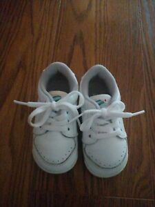 Vintage Munchkin Stride Rite White Infant Baby Shoes W/Box Leather Size 4.5 Wide