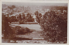 UK LONDON HARROW ON THE HILL VIEW FROM CHURCH REAL PHOTO POSTCARD CIRCA 1907