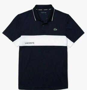 Lacoste Men SPORT Colourblock Breathable Resistant Polo Shirt Navy Blue XXL - 7
