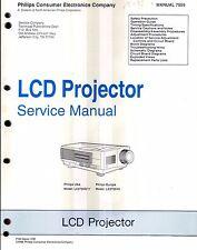 Philips original Service Manual para LCD-proyector LC 2700g/17 u. LC 2700/40